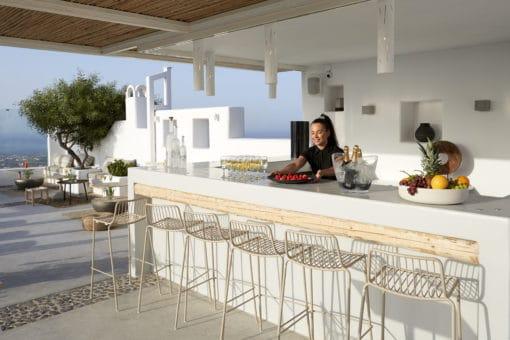 Pyrgos Restaurant Santorini - Naido Wedding